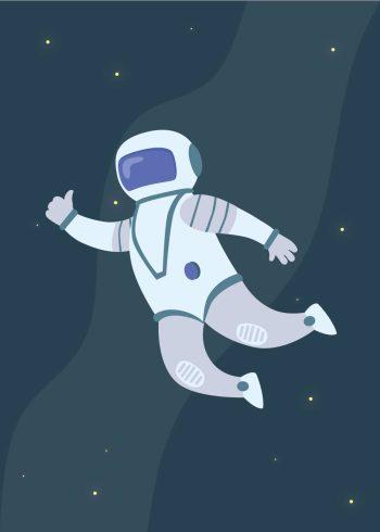 astronaut i rummet