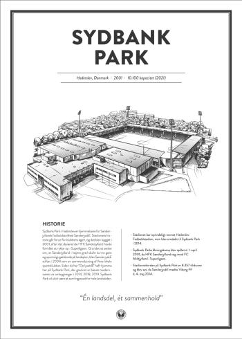 Sydbank Park SønderjyskE stadionplakat
