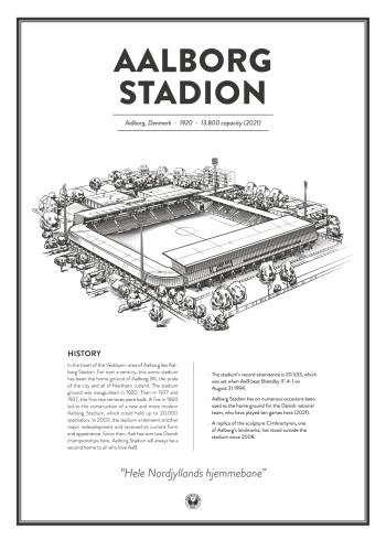 Aalborg Stadion plakat