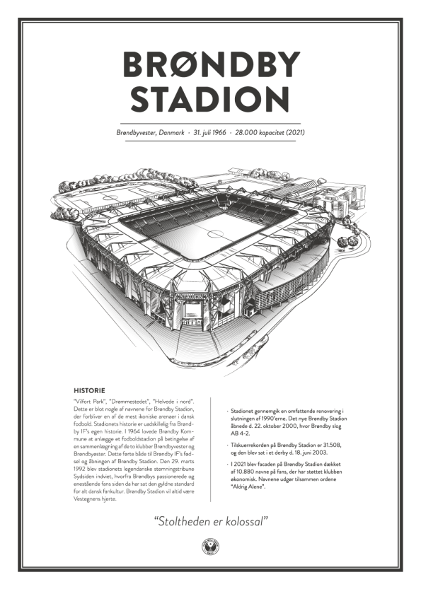Brøndby stadion plakat