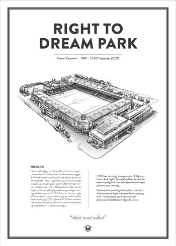 Right to Dream Park stadionplakat
